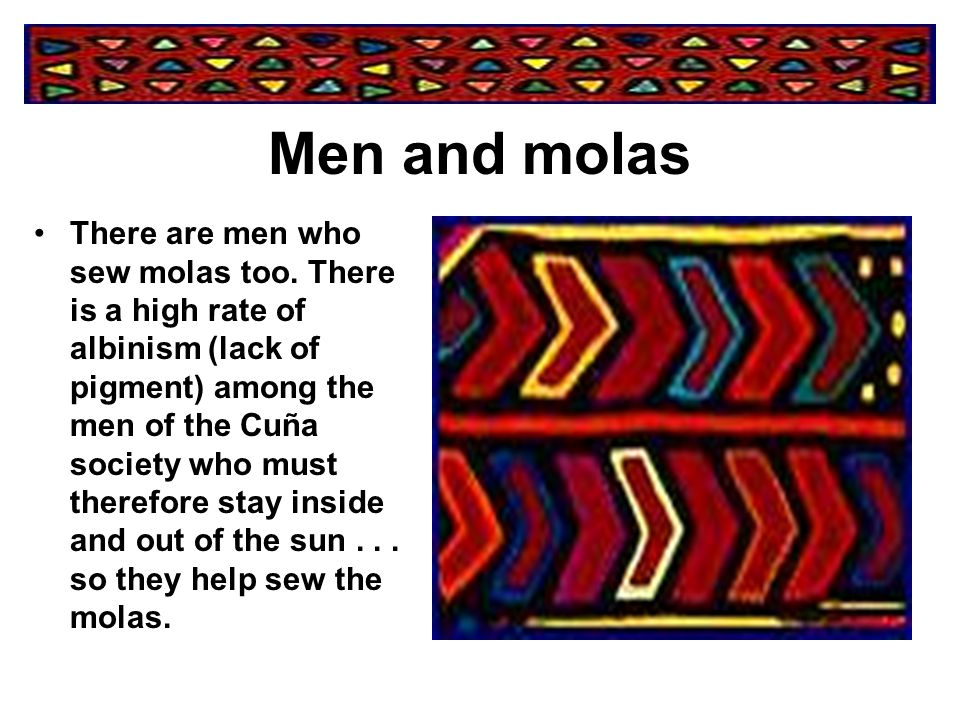 The quality of a Mola is determined by such factors as:  number of layers  fineness of stitching  evenness and width of cutouts  addition of details such as zigzag borders, lattice-work, or embroidery  general artistic merit of the design and color combination