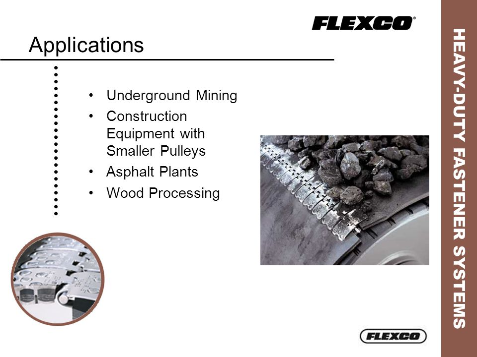 Applications Underground Mining Construction Equipment with Smaller Pulleys Asphalt Plants Wood Processing
