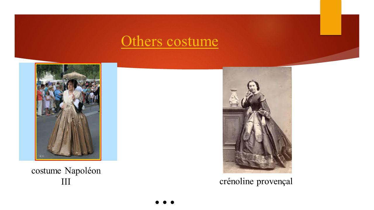 Others costume costume Napoléon III crénoline provençal...