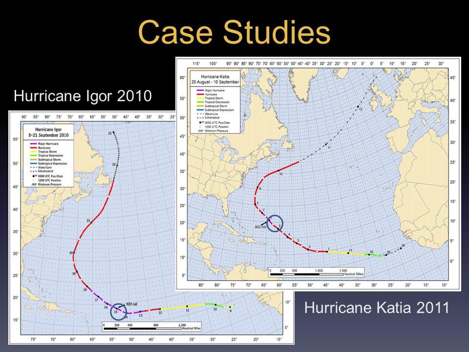 Case Studies Hurricane Igor 2010 Hurricane Katia 2011