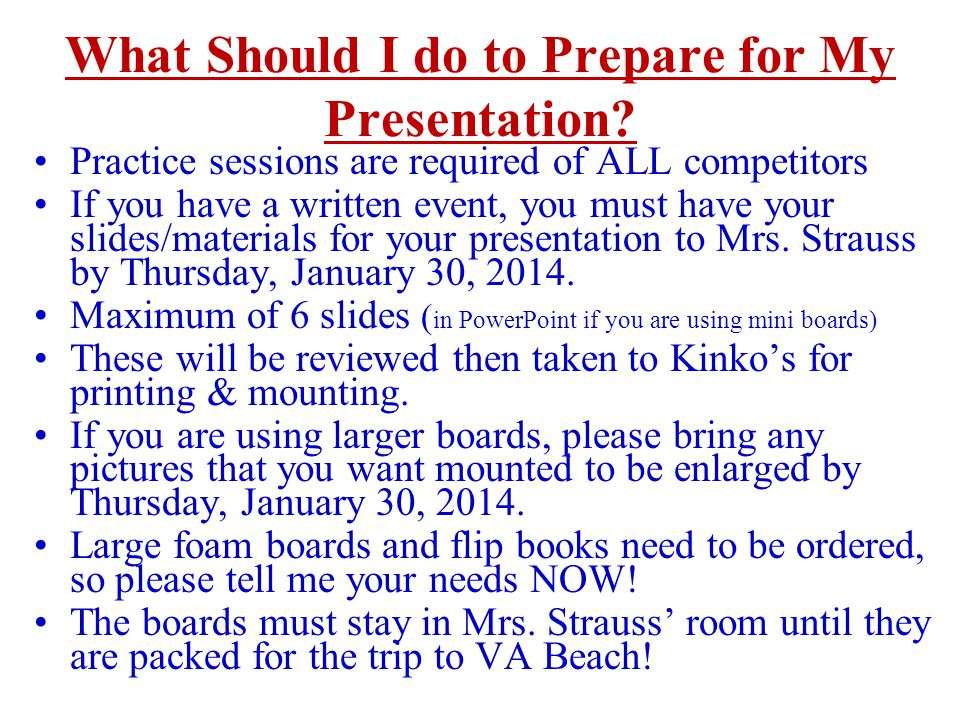 What Should I do to Prepare for My Presentation.