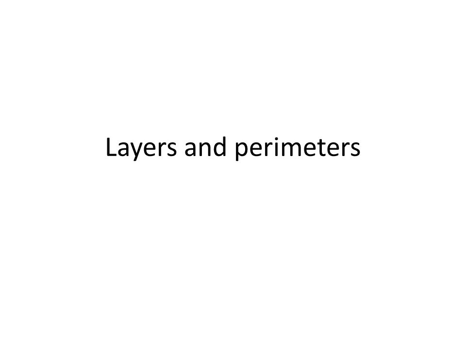 Layers and perimeters
