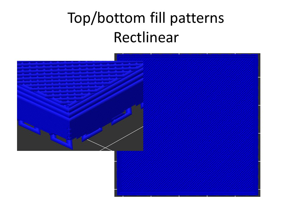 Top/bottom fill patterns Rectlinear