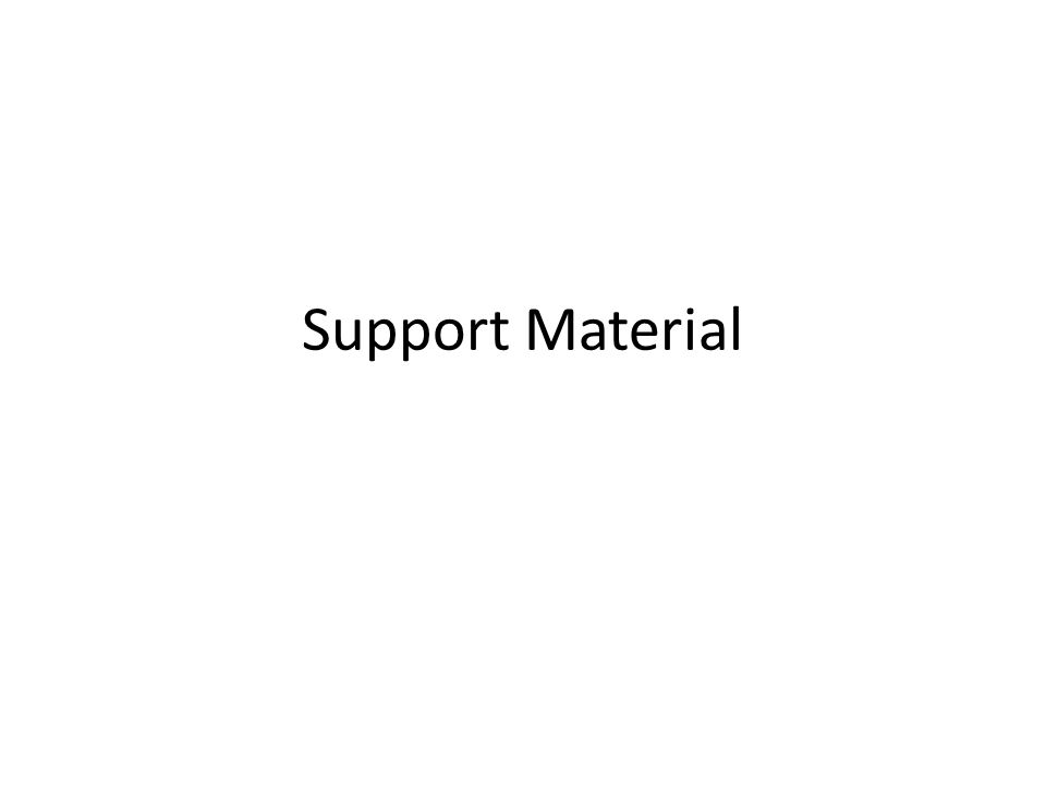 Support Material