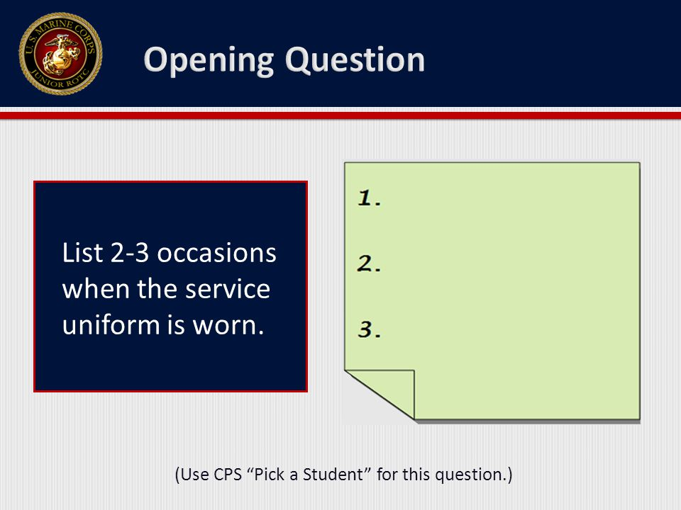 List 2-3 reasons for understanding the proper wear and care of the Service Uniforms.