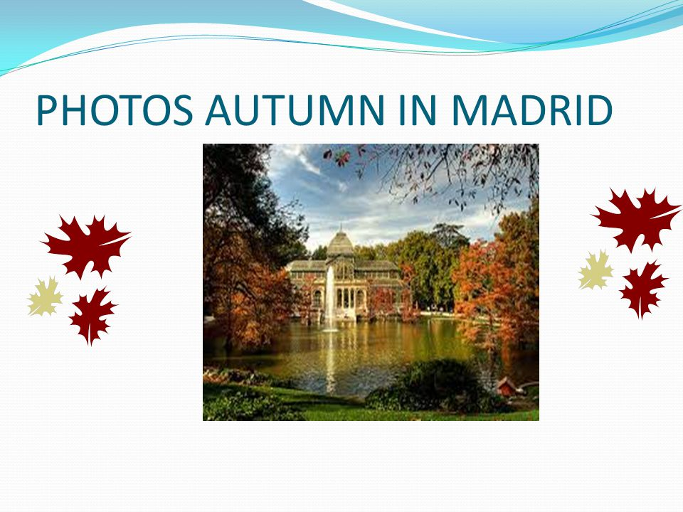 PHOTOS AUTUMN IN MADRID