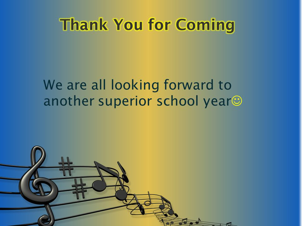 We are all looking forward to another superior school year