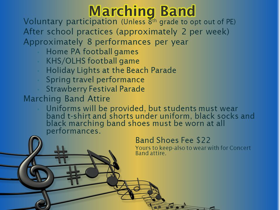Band Essay Music Student Scholarship Essay Contest through SBO magazine.