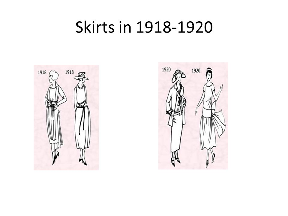 Skirts in 1918-1920
