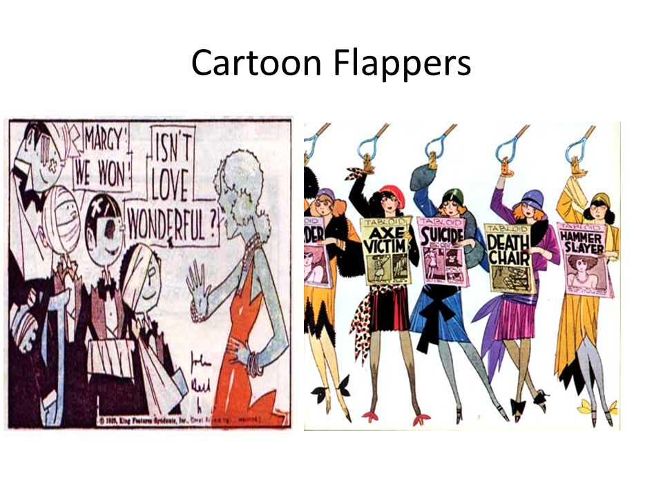 Cartoon Flappers