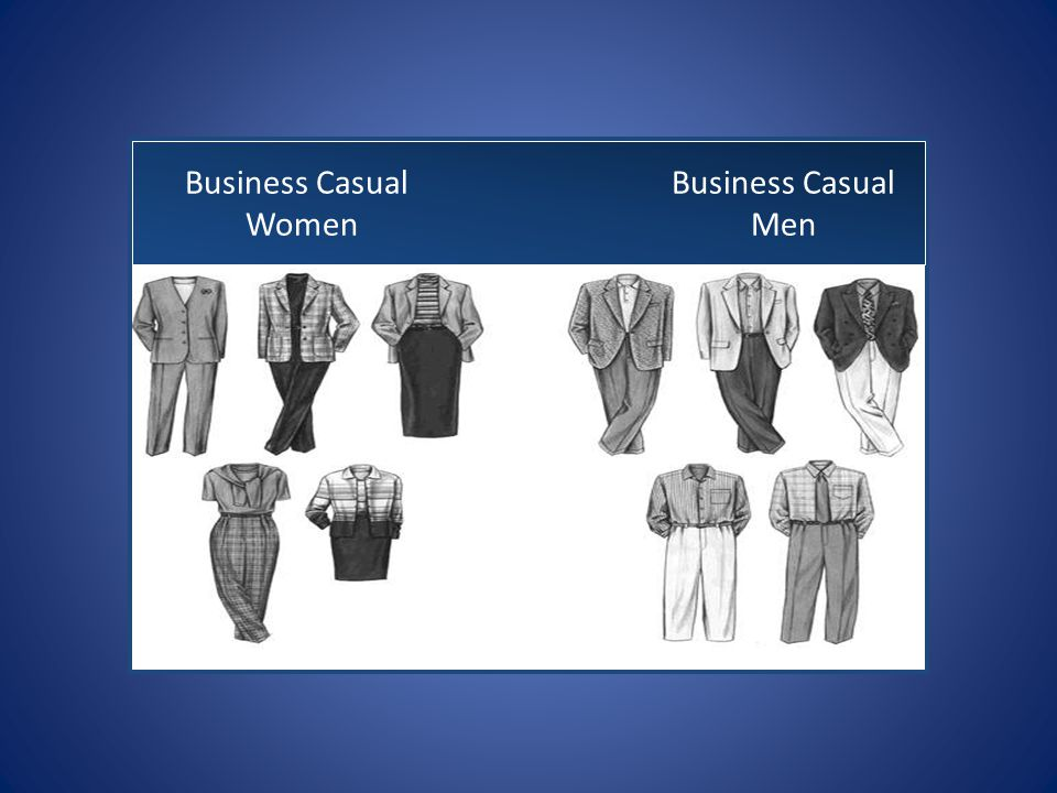 Business Casual Business Casual Women Men