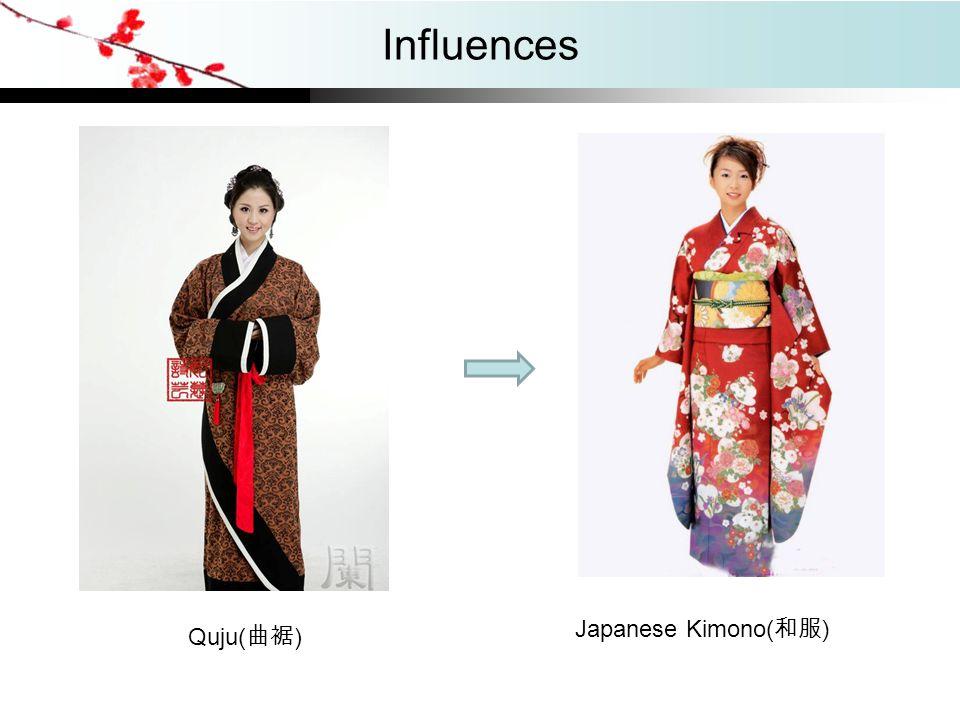 Influences Quju( 曲裾 ) Japanese Kimono( 和服 )