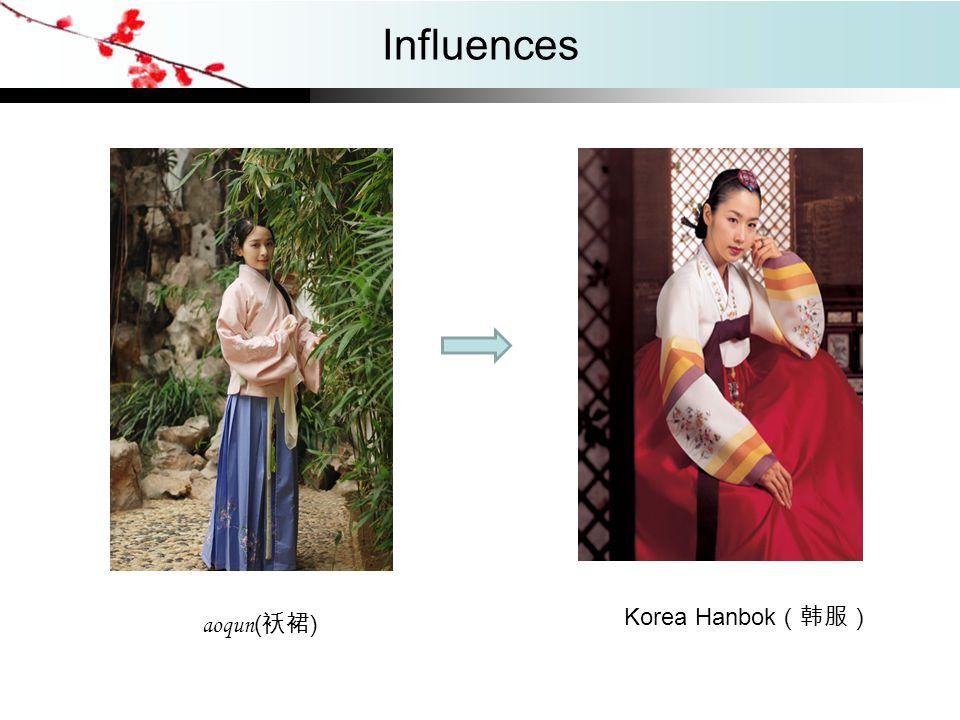 Influences aoqun ( 袄裙 ) Korea Hanbok (韩服)