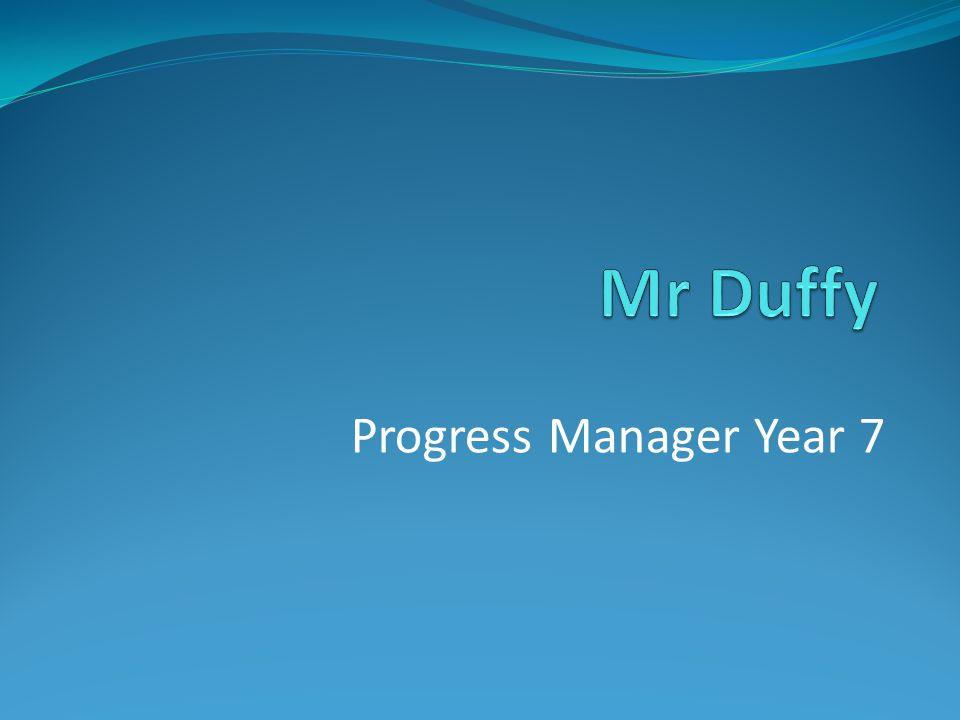 Progress Manager Year 7