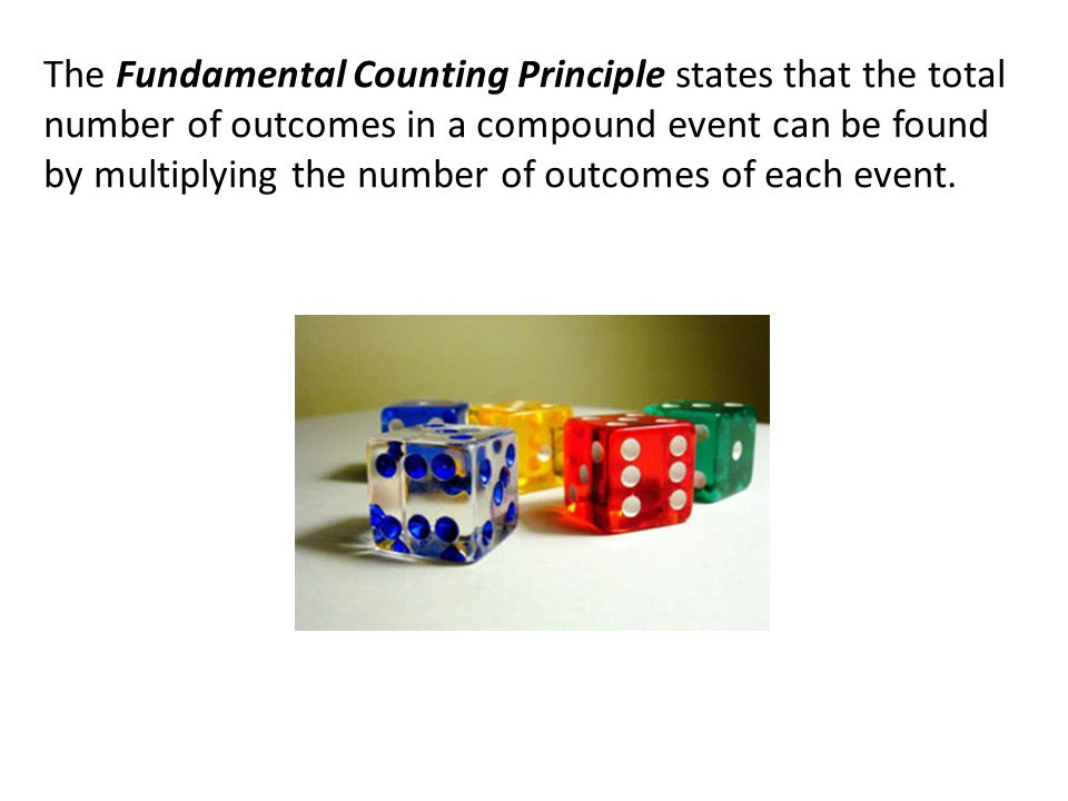 Use the Fundamental Counting Principle to find the total number of outcomes when a coin is tossed and a number cube is rolled.