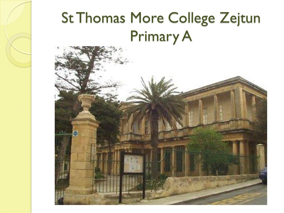 St Thomas More College Zejtun Primary A