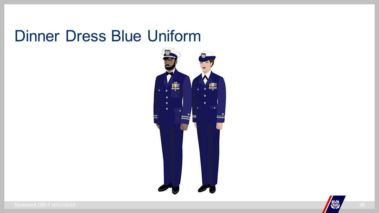 ` Dinner Dress Blue Uniform Reviewed, DIR-T USCGAUX30