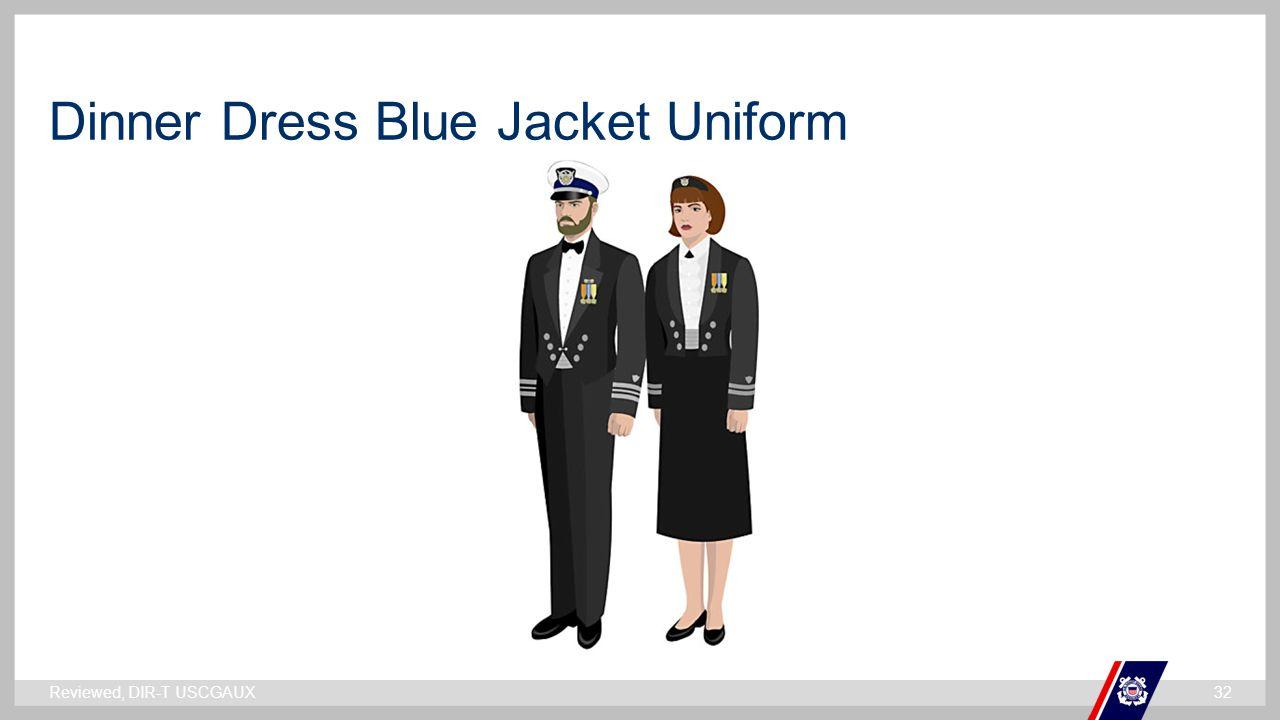 ` Dinner Dress Blue Jacket Uniform Reviewed, DIR-T USCGAUX32