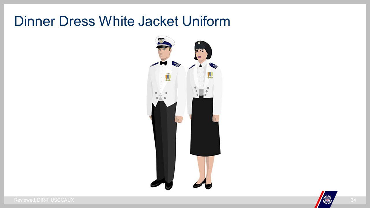 ` Dinner Dress White Jacket Uniform Reviewed, DIR-T USCGAUX34