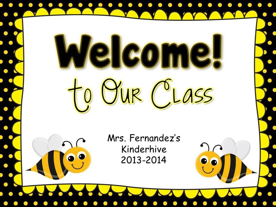 Mrs. Fernandez's Kinderhive 2013-2014