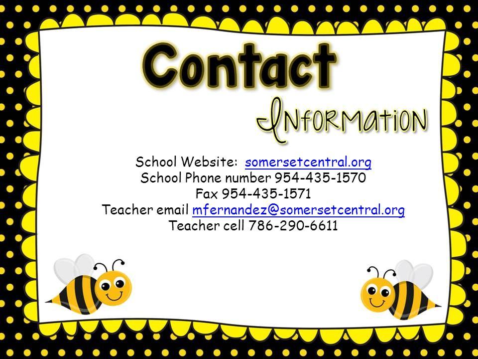 Classroom door opens at 8:00 A.M. Instruction begins at 8:15 A.M.