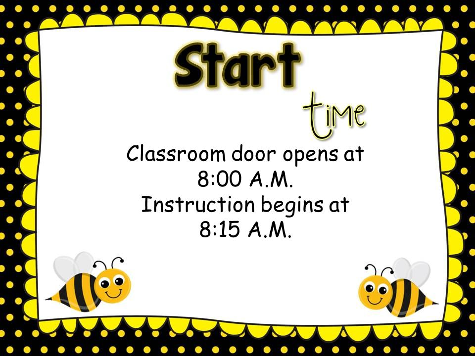 BEE Binders Bring Everything Everyday The binder will contain the Schedule, contact page, parent resource pages, planner, homework folder, communication folder, and money pouch.