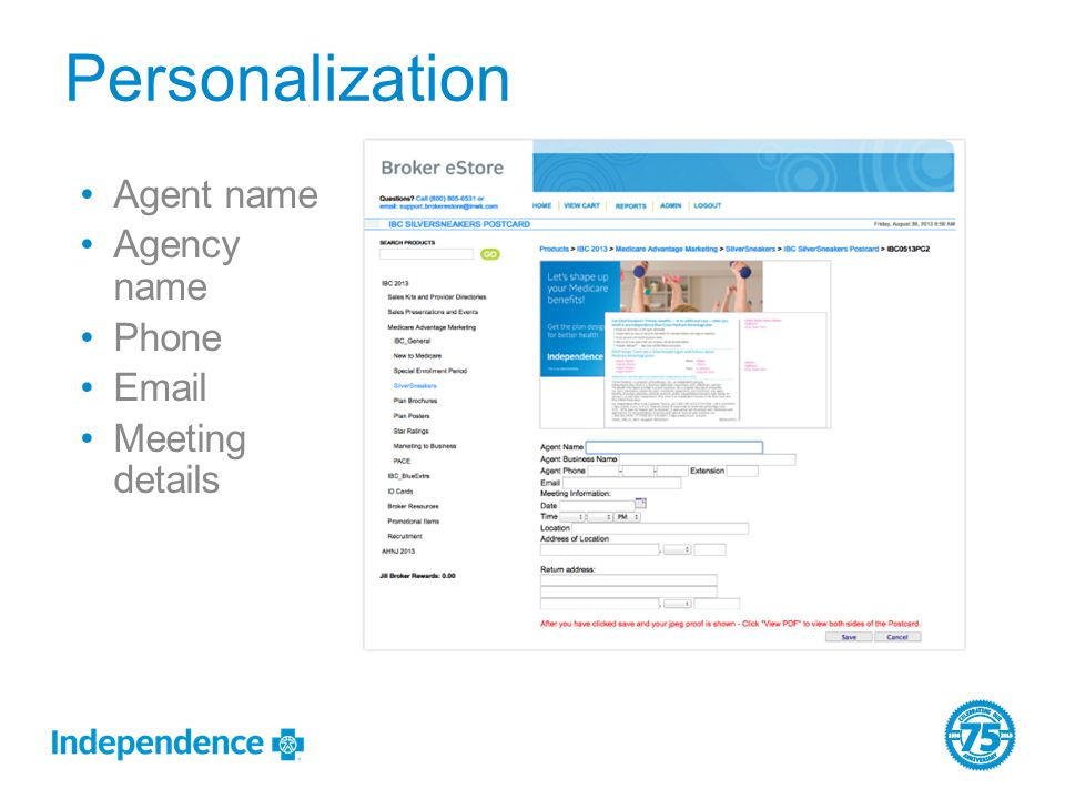 Agent name Agency name Phone Email Meeting details Personalization