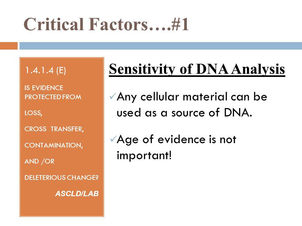 Critical Factors….
