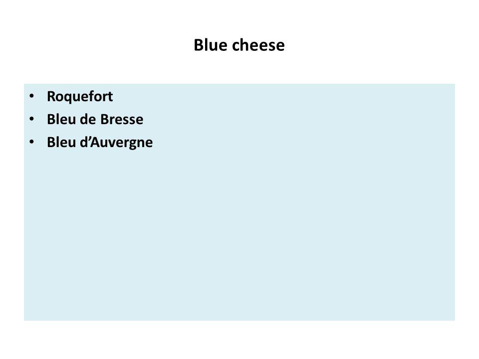Blue cheese Roquefort Bleu de Bresse Bleu d'Auvergne