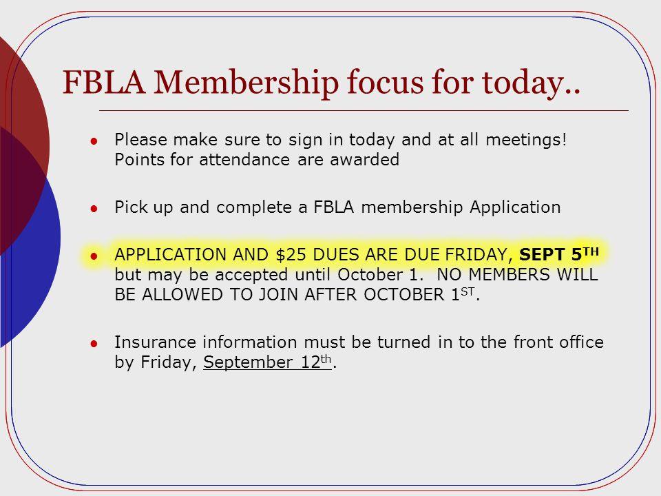 FBLA Membership focus for today..