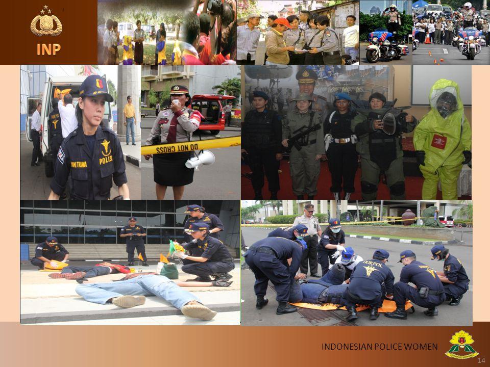 14 INDONESIAN POLICE WOMEN