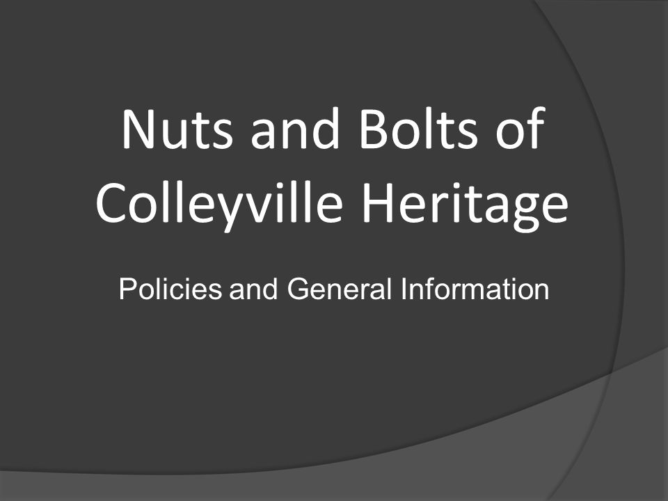 Nuts and Bolts of Colleyville Heritage Policies and General Information