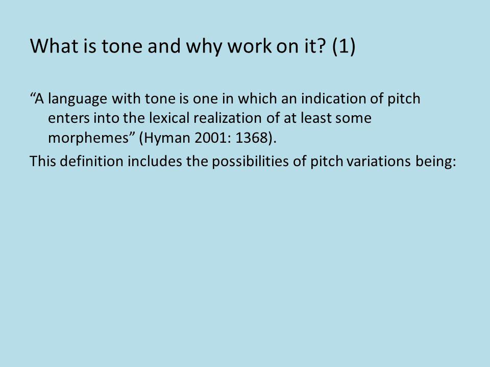 Phonetic Fieldwork: Working on Tone 2010 Summer School on Documentary Linguistics in West Africa (Intermediate) July 19-July 31 2010