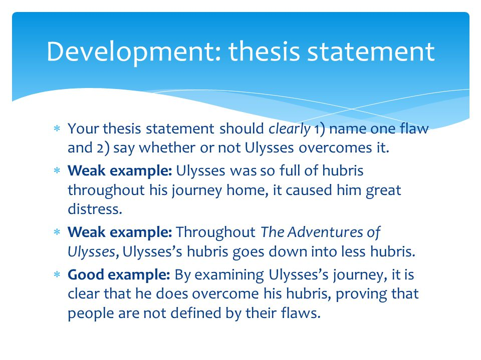 What Thesis Statement