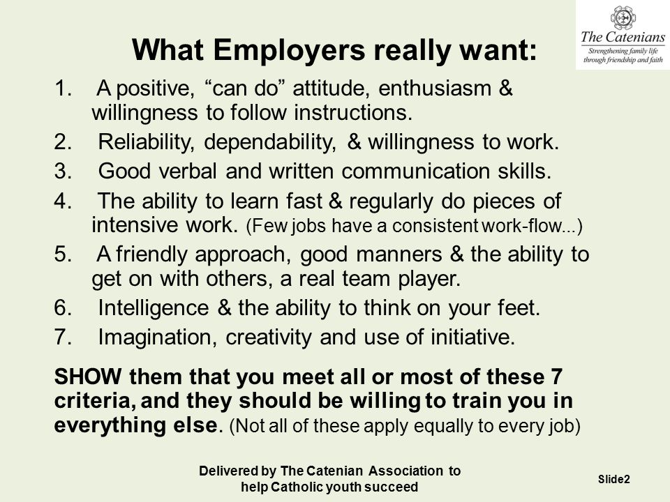 Human Nature Employers are normal people like you and I, & people make friends with, hire or do business with people who they Like, Respect or Trust.