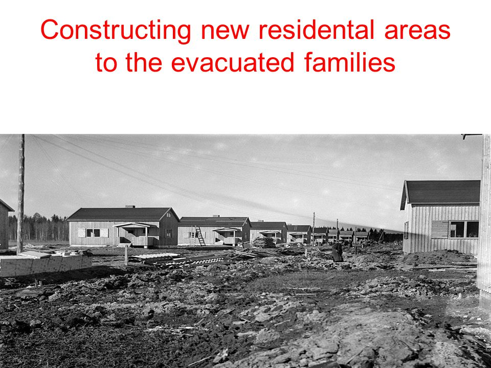 Constructing new residental areas to the evacuated families
