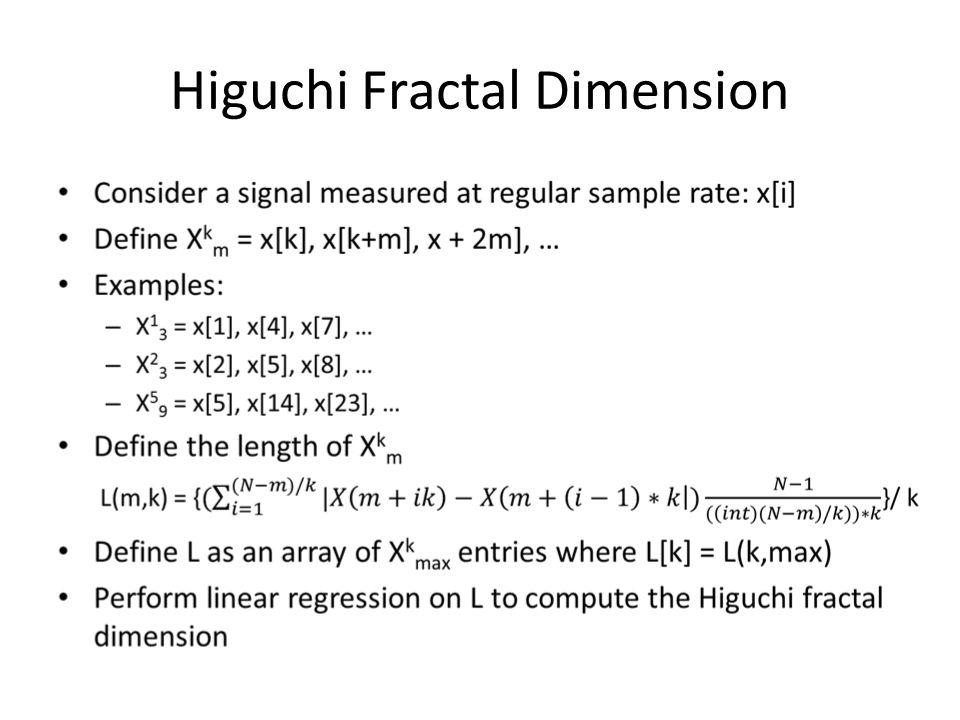 Higuchi Fractal Dimension