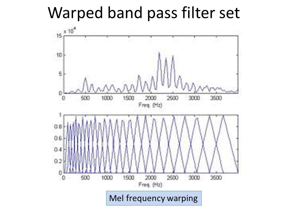 Warped band pass filter set Mel frequency warping