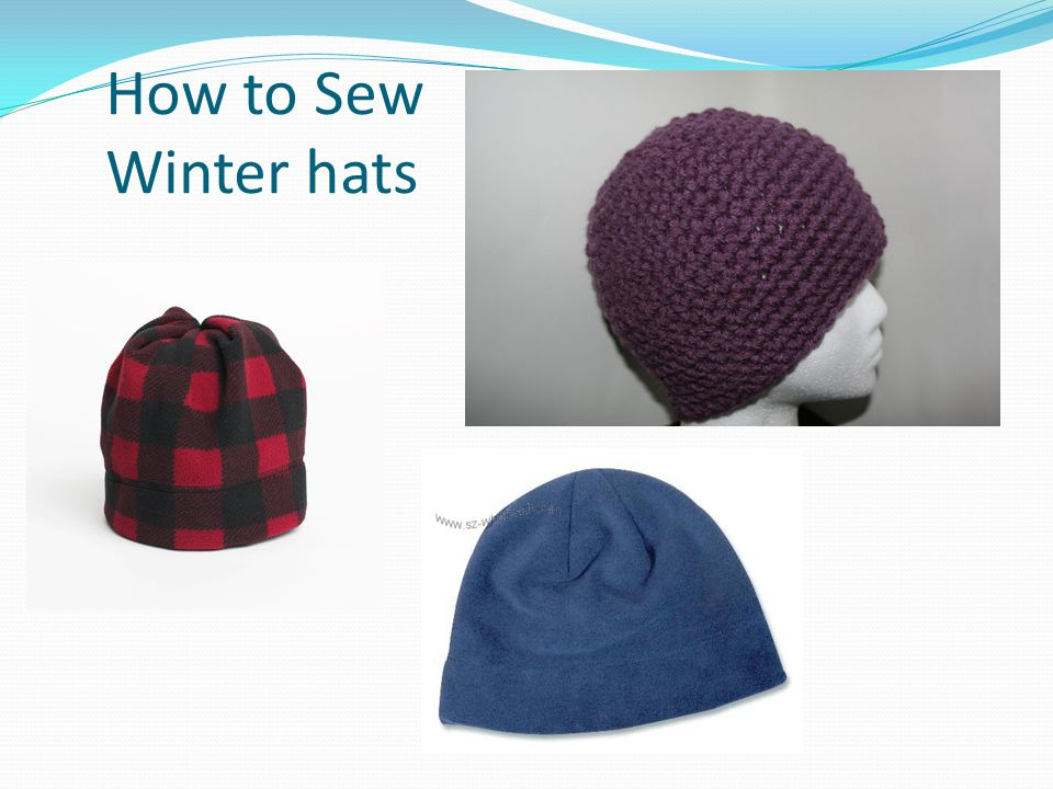 How to Sew Winter hats