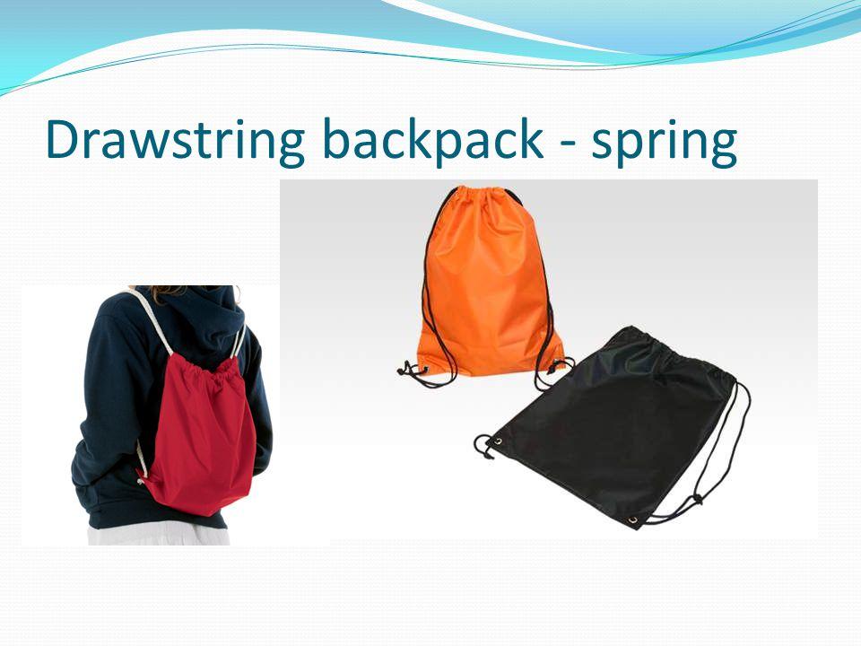 Drawstring backpack - spring