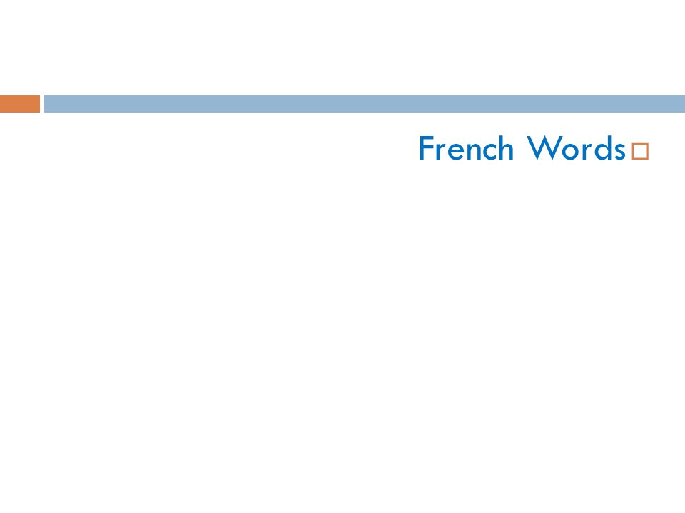  French Words