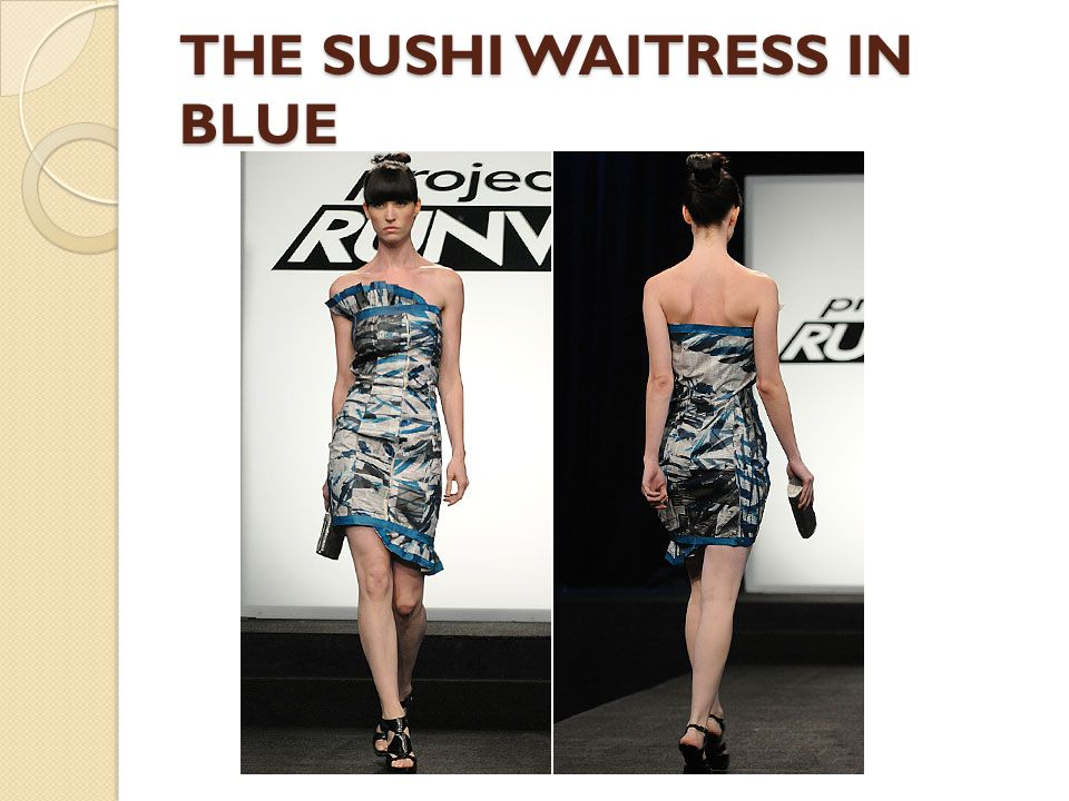 THE SUSHI WAITRESS IN BLUE