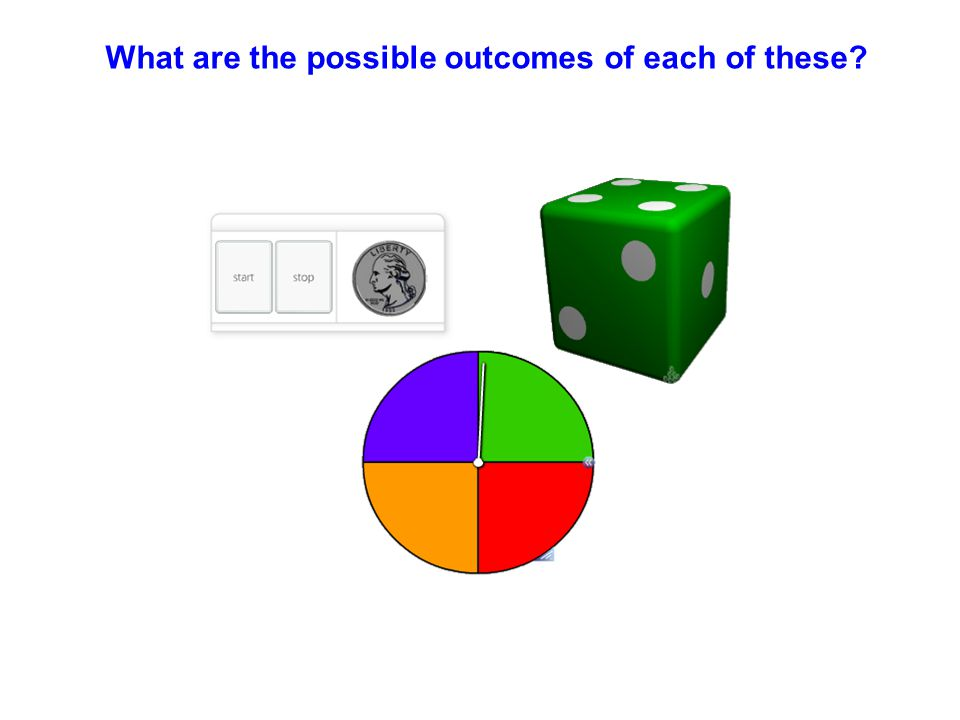 What are the possible outcomes of each of these?