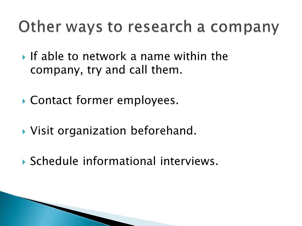  If able to network a name within the company, try and call them.