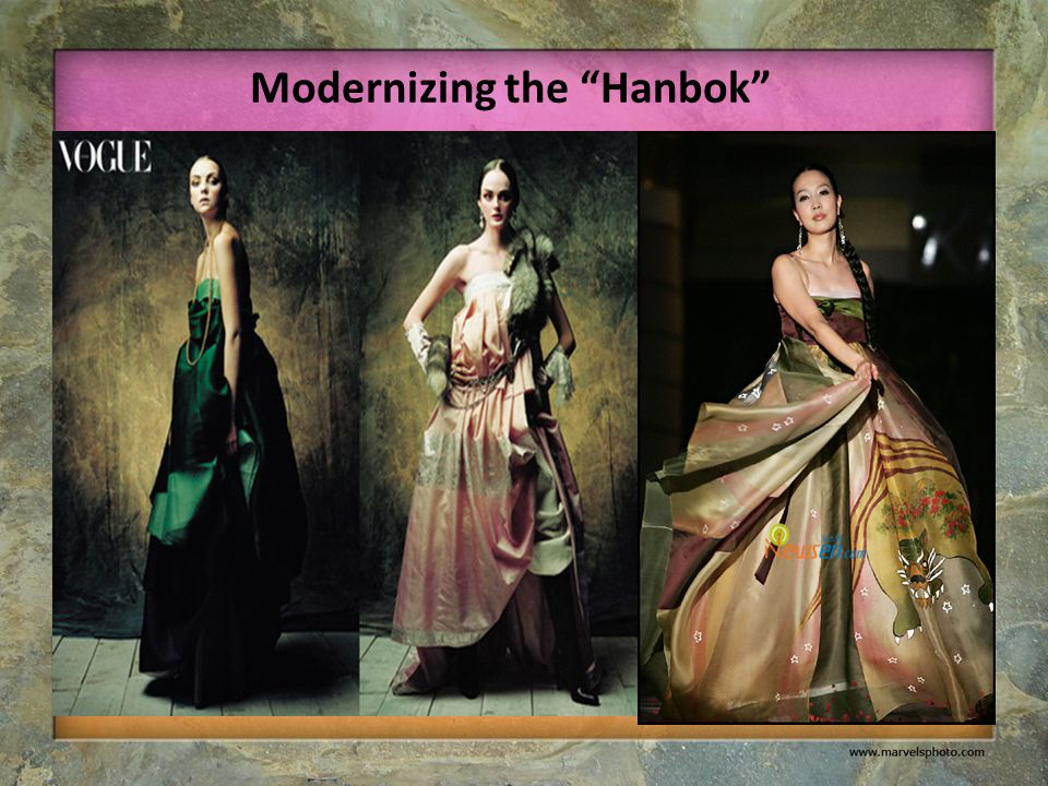 "Modernizing the ""Hanbok"""