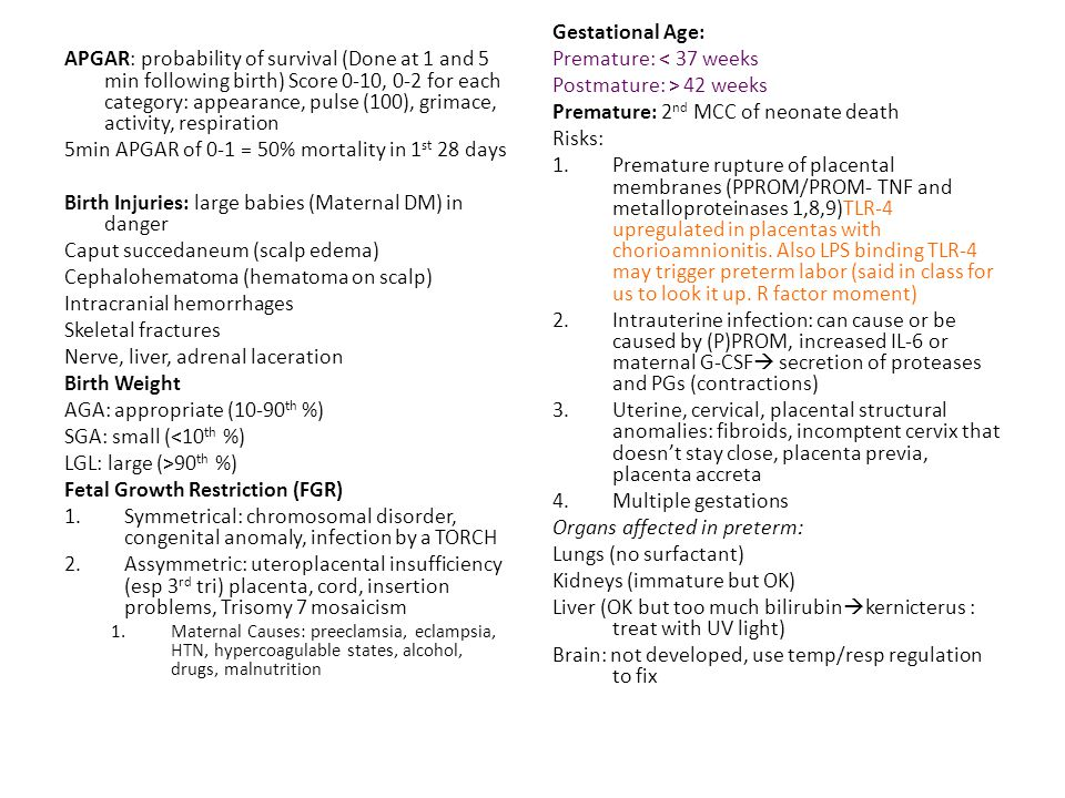 Respiratory Distress in the newborn.