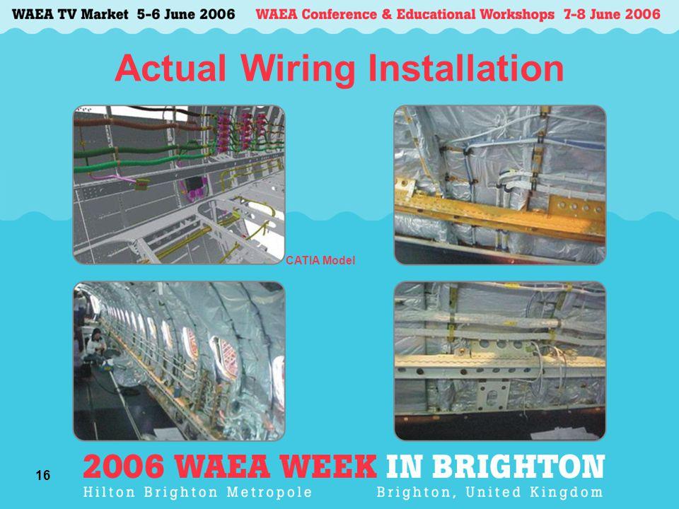 16 Actual Wiring Installation CATIA Model