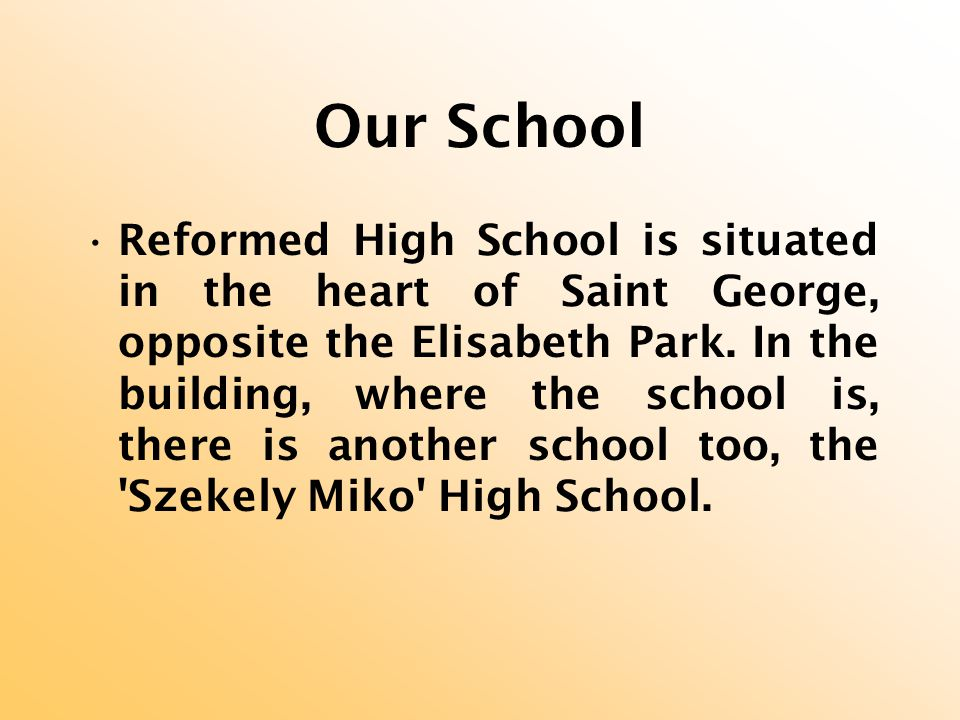 Starting with 2003 the school has a new headmistress: Peto Maria.