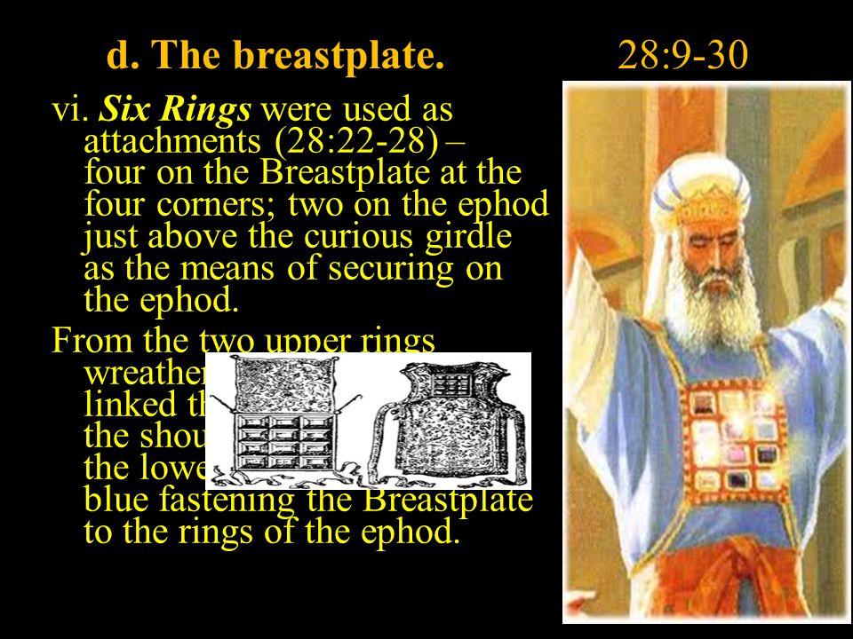 d. The breastplate.28:9-30 vi.