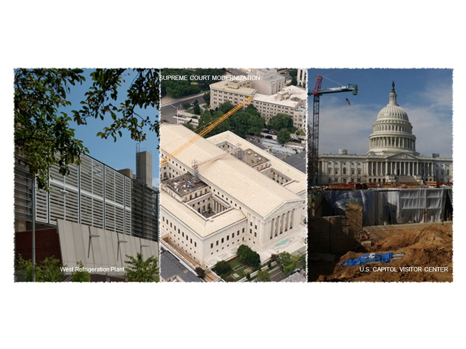 West Refrigeration Plant SUPREME COURT MODERNIZATION U.S. CAPITOL VISITOR CENTER